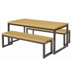 School Canteen Dining Four Seater Table Amp Benches Set
