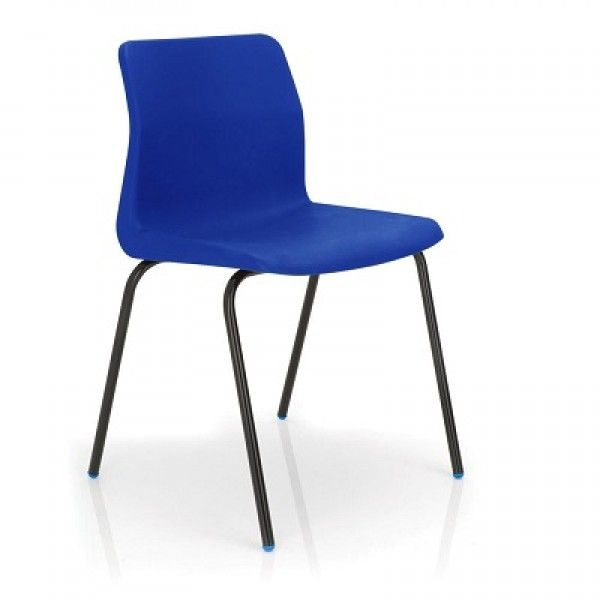 KM P6 Blue Stackable Classroom Chairs for 8-11 years - Fast Delivery