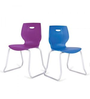 Adv Geo Poly Skid Base Classroom Chairs