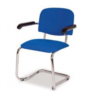 Adv Chrome Cantilever Waiting Room Chairs