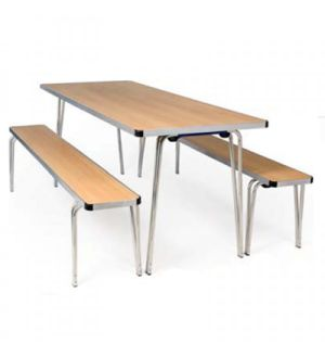Adv Contour Plus Folding Tables for Canteen Dining