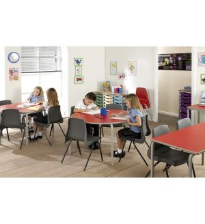 MT Crushed Bent Student Tables - PVC / ABS Buro Edge - BEST PRICE