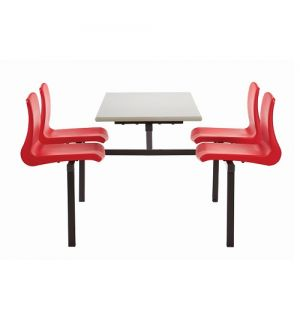 MT Canteen / Dining Four Seater Table & Bench Set with NP Seats