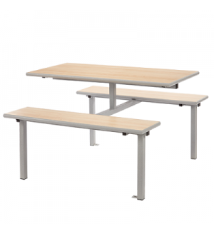 Canteen/ Dining Four Seater Bench Set