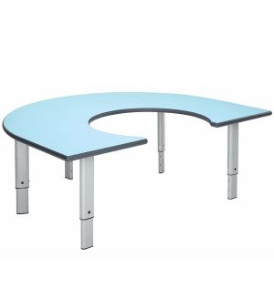 MT Rainbow Height Adjustable Classroom Tables - PU Edge