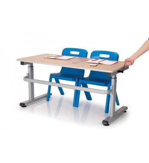 MT HA200 Height Adjustable School Tables - MDF Edge
