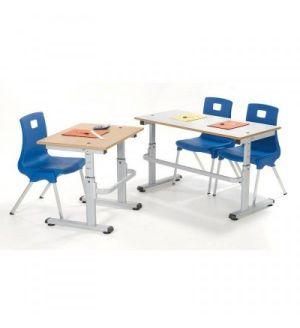 MT Height Adjustable HA200 School Tables - Durable PU Edge