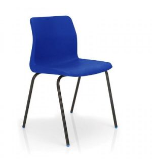 KM P6 Blue Stackable School Chairs for 8-11 years - Fast Delivery