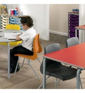 MT Crushed Bent Student Tables - Hardwearing Duraform PU Edge