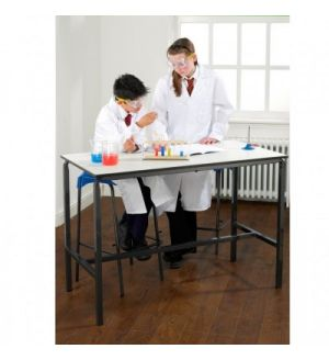MT Science & Lab Tables - Crush bent H frame with chemical resistant Trespa top