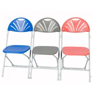 SLITE Fan Back Folding Chairs - Fast Delivery