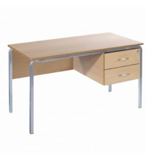 MT Crush Bent Teachers Desk Standard MDF Edge