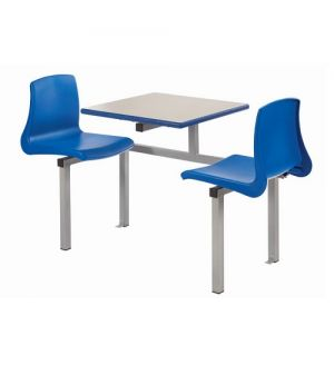 Canteen/ Dining Two Seater Cantilever Bench Set with NP Chairs