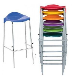 WSM 4 Leg Stacking Stools - Fast Delivery