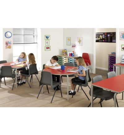 MT Crushed Bent Student Tables - PVC / ABS Buro Edge - See Options - BEST PRICE
