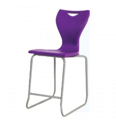 EN80 - Skid Base High Chair with Silver Frame - Fast Delivery