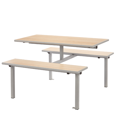 MT Fixed Canteen Unit / Dining Four Seater Table & Bench Set