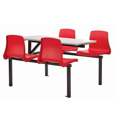 MT Canteen Dining Four Seater Cantilever Bench Set with NP Seats