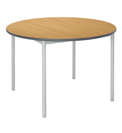 MT FW Student Tables Chunky 45mm Round Frame - Duraform PU edge