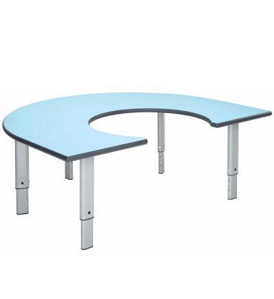 MT Rainbow Height Adjustable Classroom Tables - PU Edge