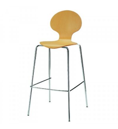 Mile / Balloon High Chairs - Chrome / Beech - Fast Delivery