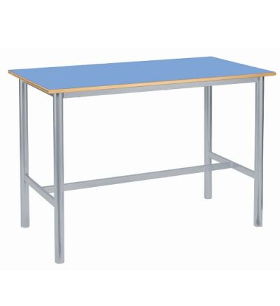 MT Art Craft & Lab Tables - Fully Welded Round H Frame - MDF Edge