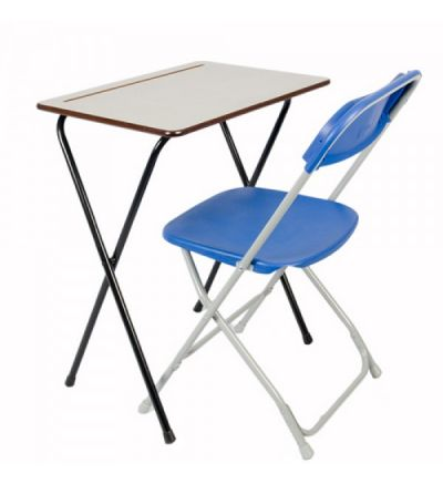 SLITE Small Folding Exam Desk 600x450mm Rectangle - Fast Delivery