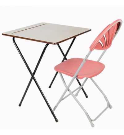 SLITE Standard Folding Exam Desk 600x600mm Square - Fast Delivery