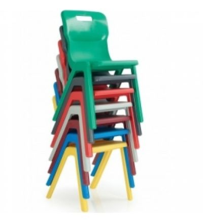 Titan Stackable Plastic School Chairs - One Piece Polyproplene - Fast Delivery