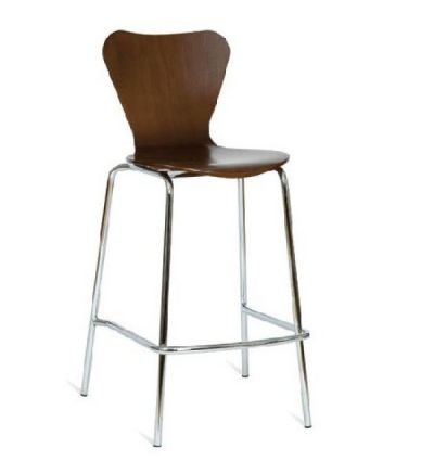 Torino / Tri Breakout Area High Stools - Chrome / Wenge - Fast Delivery