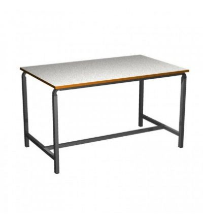 MT Art Craft & Laboratory Tables - Crush bent H frame with MDF edge
