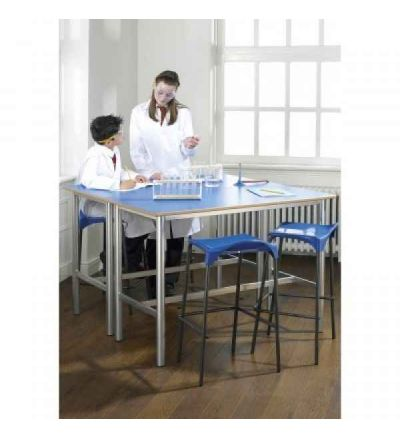 MT Trespa Top Lab Tables - Fully Welded Round H Frame